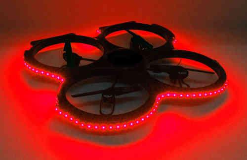 led beleuchtung f r udi e829a quadrocopter rot gr n blau wei oder rot wei ebay. Black Bedroom Furniture Sets. Home Design Ideas